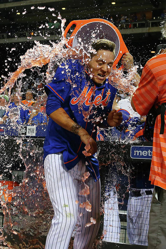 Three Quarter Length Art Print featuring the photograph Wilmer Flores by Mike Stobe