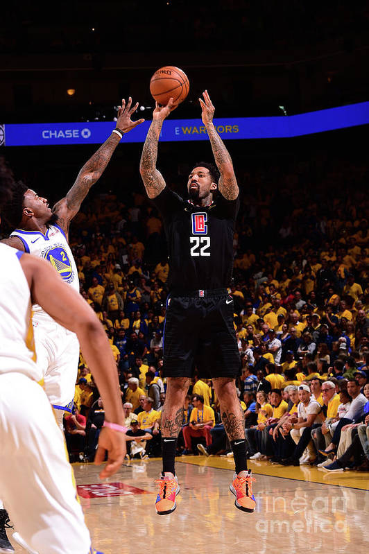 Playoffs Art Print featuring the photograph Wilson Chandler by Noah Graham