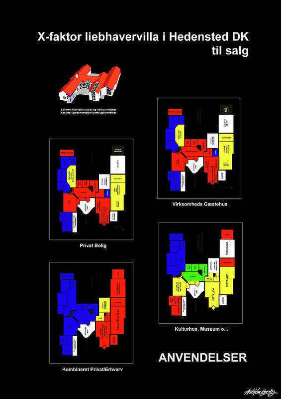X-faktor Liebhavervilla I Hedensted Dk Til Salg Art Print featuring the digital art Anvendelser af X-faktor liebhavervilla i Hedensted DK til salg by Asbjorn Lonvig