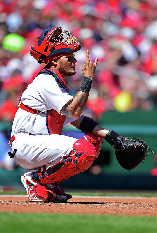 St. Louis Cardinals Art Print featuring the photograph Yadier Molina by Jeff Curry