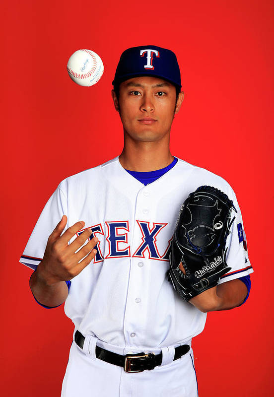 Media Day Art Print featuring the photograph Yu Darvish by Jamie Squire