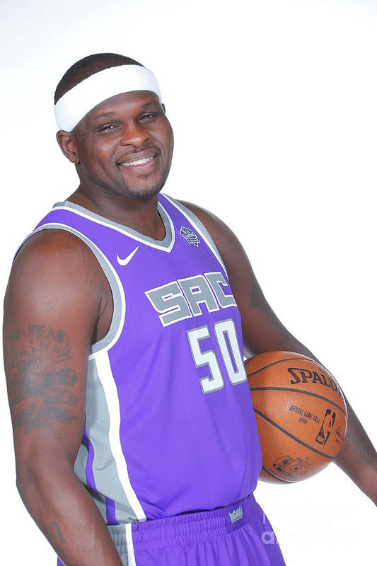 Media Day Art Print featuring the photograph Zach Randolph by Rocky Widner