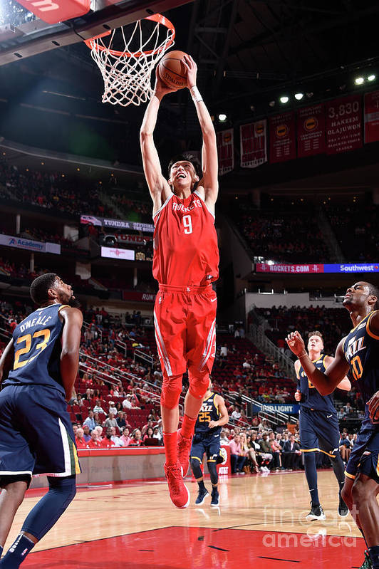 Nba Pro Basketball Art Print featuring the photograph Zhou Qi by Bill Baptist