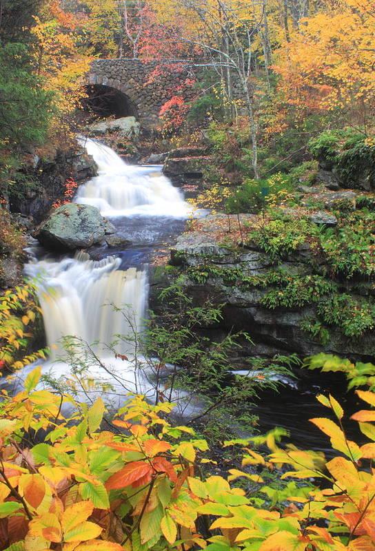 Autumn Art Print featuring the photograph Doanes Falls In Autumn by John Burk