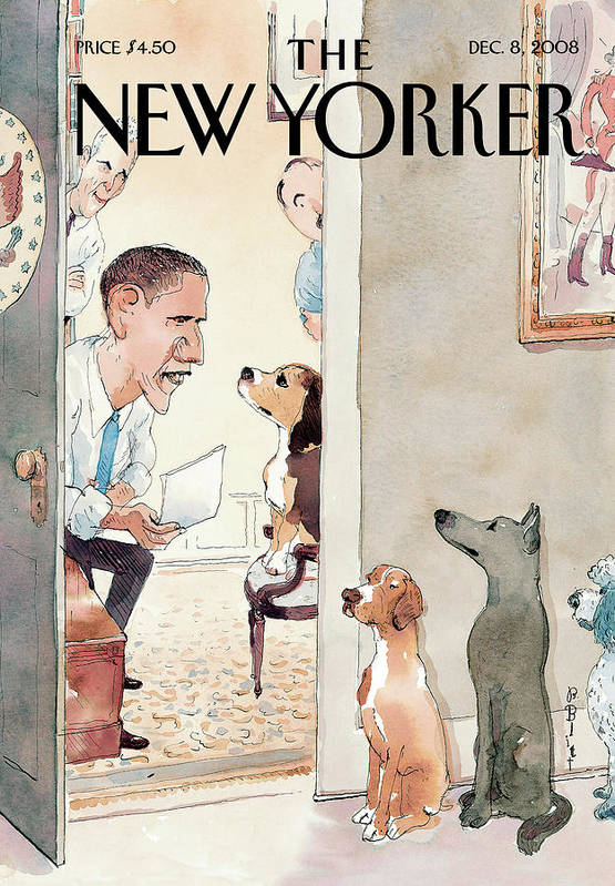 Obama Art Print featuring the painting New Yorker December 8th, 2008 by Barry Blitt