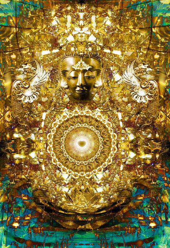 Buddha Art Print featuring the digital art Alchemy Of The Heart by Jalai Lama
