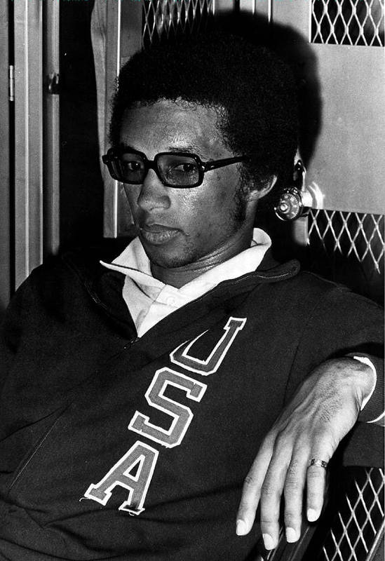 Retro Images Archive Art Print featuring the photograph Arthur Ashe With Sunglasses by Retro Images Archive