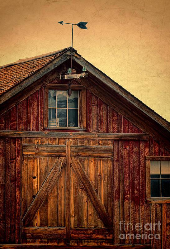 Farm Art Print featuring the photograph Barn With Weathervane by Jill Battaglia