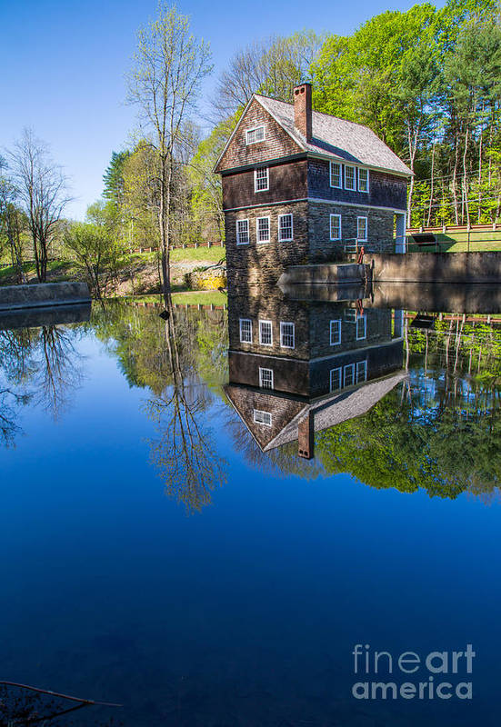 Cornish Art Print featuring the photograph Blow Me Down Mill Cornish New Hampshire by Edward Fielding