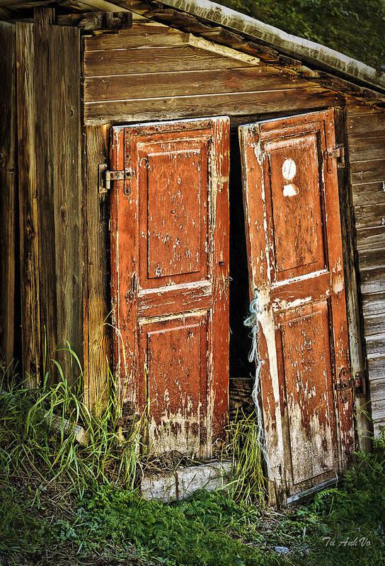 Doors Art Print featuring the photograph Broken Door by An Vo