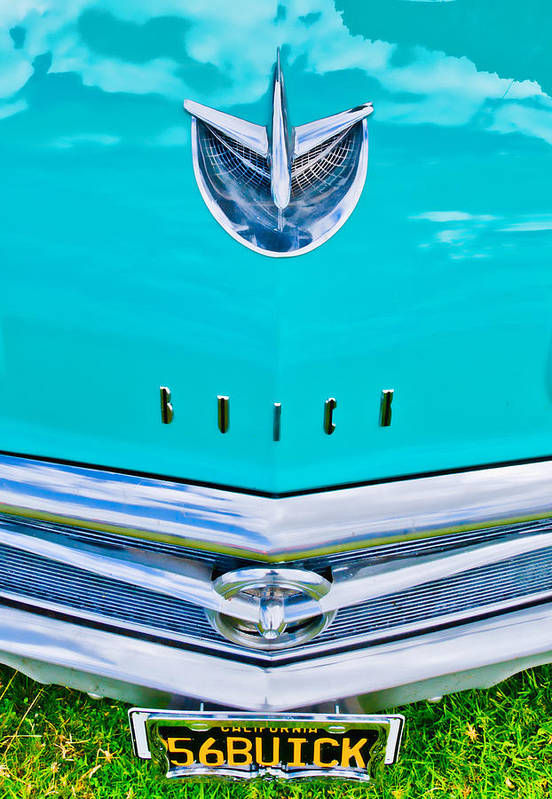 Blue Buick Art Print featuring the photograph Buick Grill by Phil 'motography' Clark