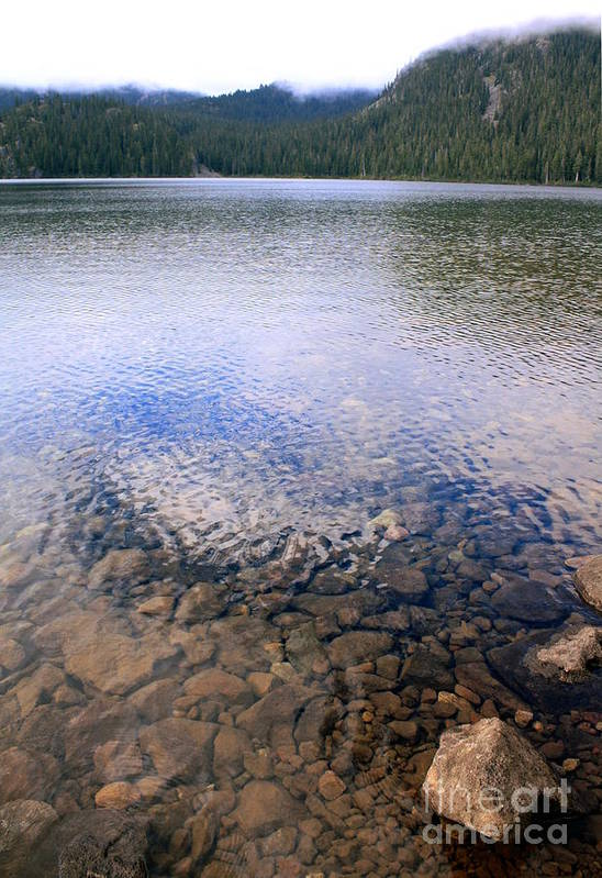Lake Art Print featuring the photograph Callaghan Lake Stones by Amanda Holmes Tzafrir