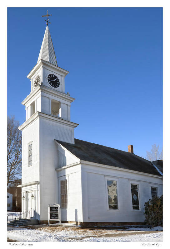Architecture Art Print featuring the photograph Church On The Cape by Richard Bean