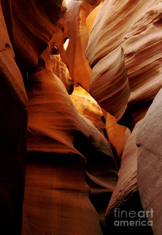 Antelope Canyon Art Print featuring the photograph Convolusions by Kathy McClure