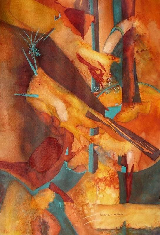 Digits Art Print featuring the painting Digital Age by Eldora Schober Larson