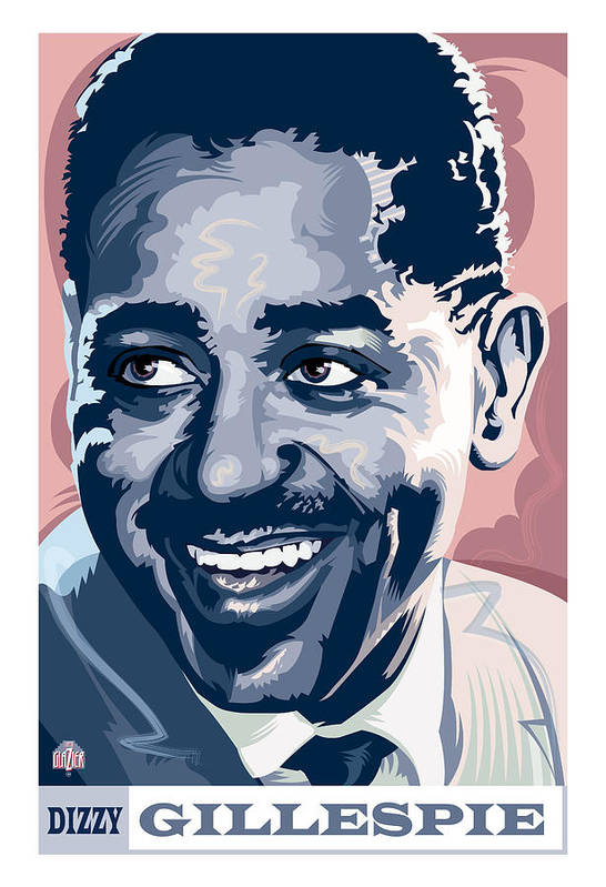 Digital Painting Art Print featuring the painting Dizzy Gillespie Portrait by Garth Glazier
