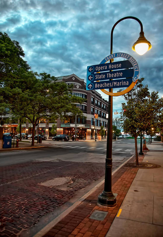 Downtown traverse city front street district art print by for Craft shows in traverse city mi