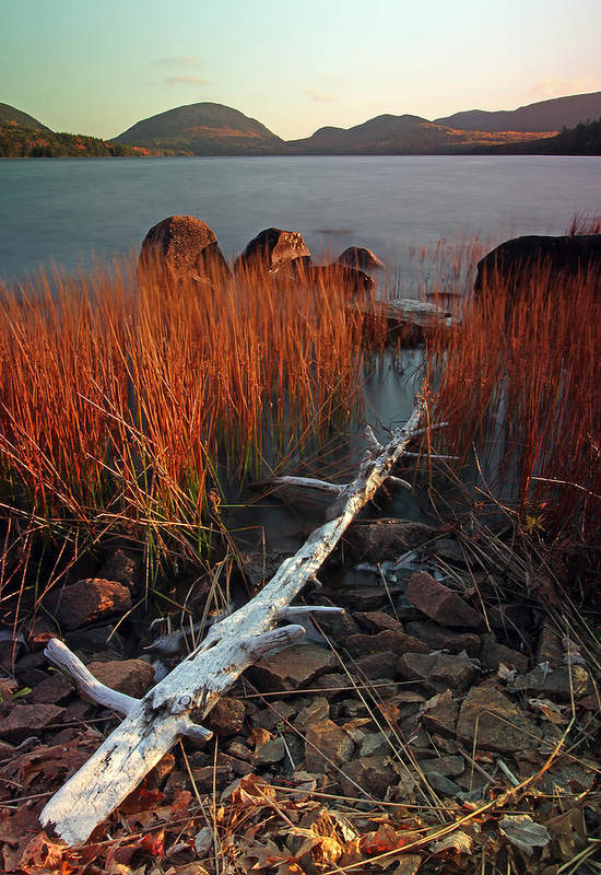 Autumn Art Print featuring the photograph Eagle Lake At Autumn by Juergen Roth