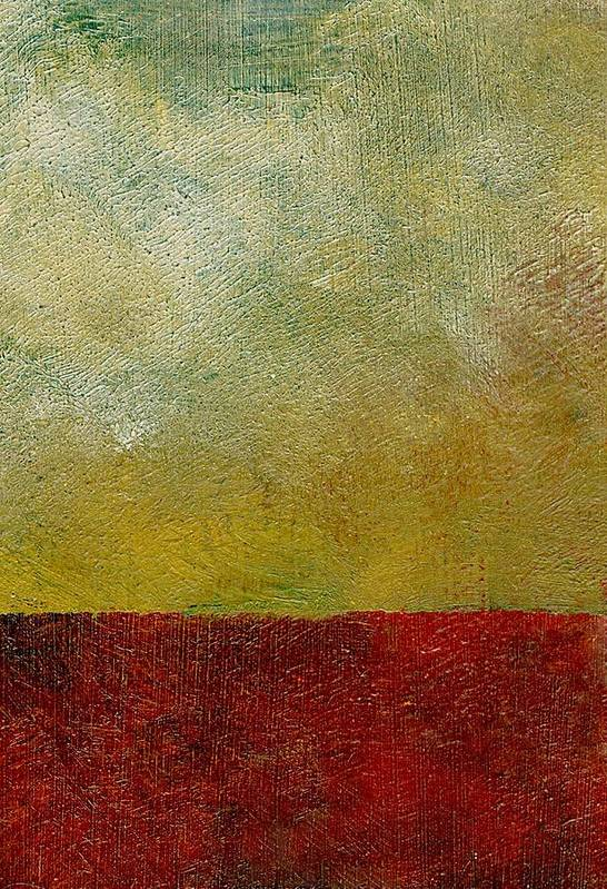 Abstract Landscape Art Print featuring the painting Earth Study One by Michelle Calkins