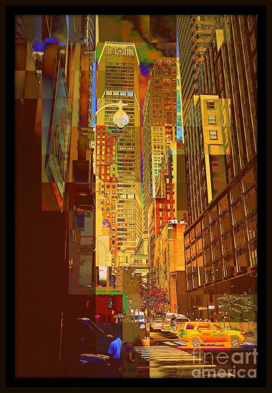 Metlife Building Art Print featuring the photograph East 45th Street - New York City by Miriam Danar
