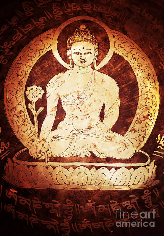 Buddha Art Print featuring the photograph Etched Buddha by Tim Gainey