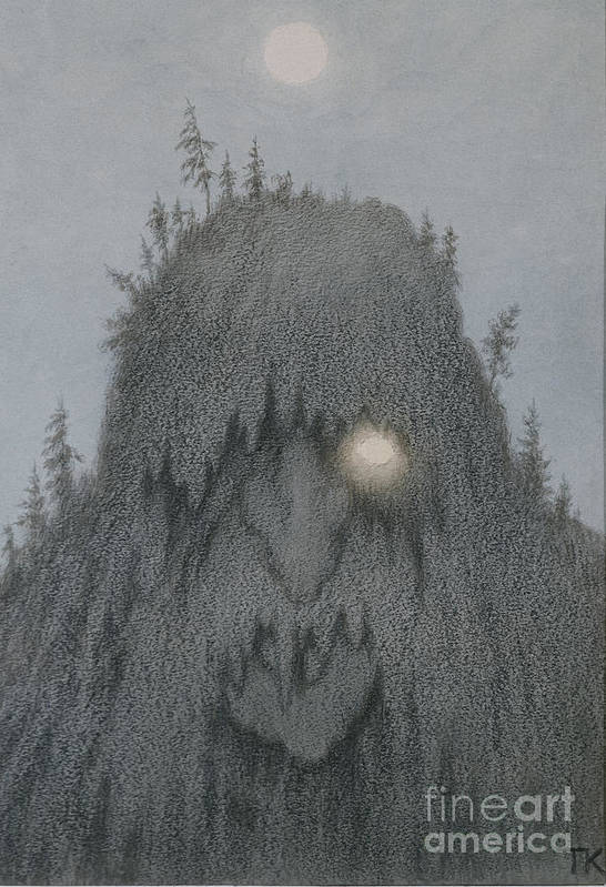 Forest Troll Art Print By Theodor Kittelsen
