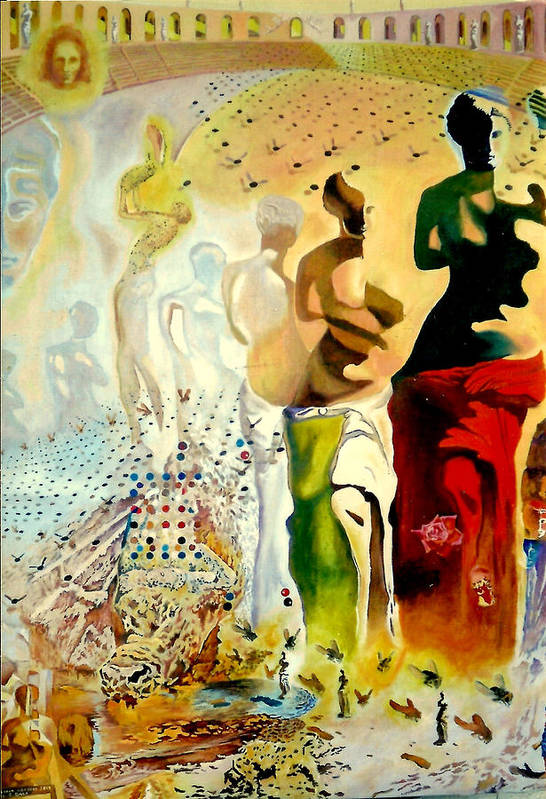 Henryk Art Print featuring the painting Halucinogenic Toreador By Salvador Dali by Henryk Gorecki
