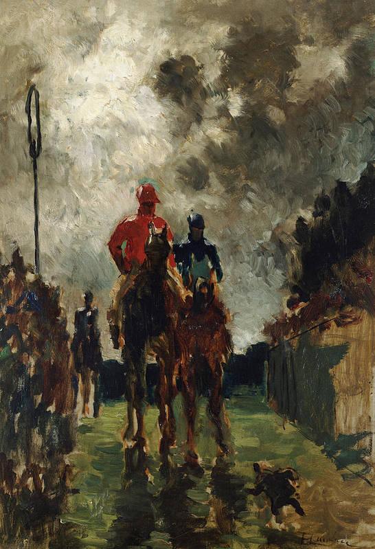 Jockey Art Print featuring the painting Henri De Toulouse Lautrec by The Jockeys