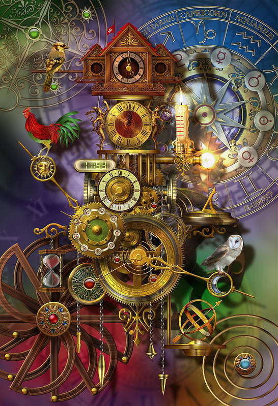 Analog Art Print featuring the digital art Its About Time by Ciro Marchetti