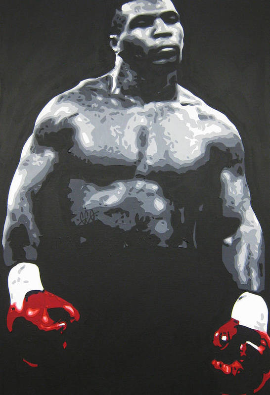 Mike Tyson Art Print featuring the painting Mike Tyson 8 by Geo Thomson