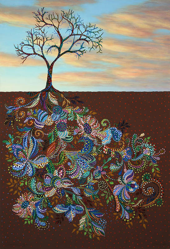 Tree Art Print featuring the painting Neither Praise Nor Disgrace by James W Johnson