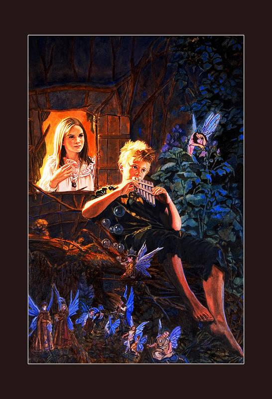 Peter Pan Art Print featuring the painting Peter Pan by Patrick Whelan