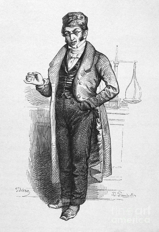 19th Century Art Print featuring the photograph Pharmacist, 19th Century by Granger
