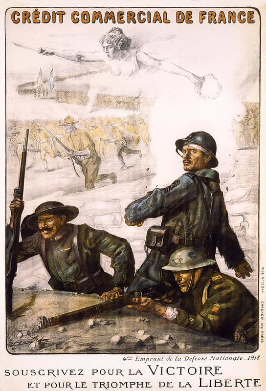 world War Art Print featuring the photograph Pour La Victoire - W W 1 - 1918 by Daniel Hagerman