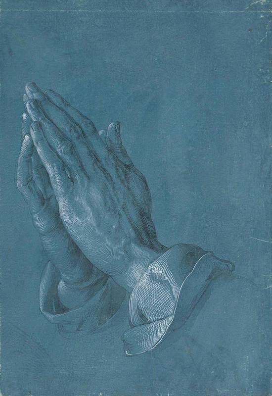 Albrecht Dürer Art Print featuring the painting Praying Hands by Albrecht Durer