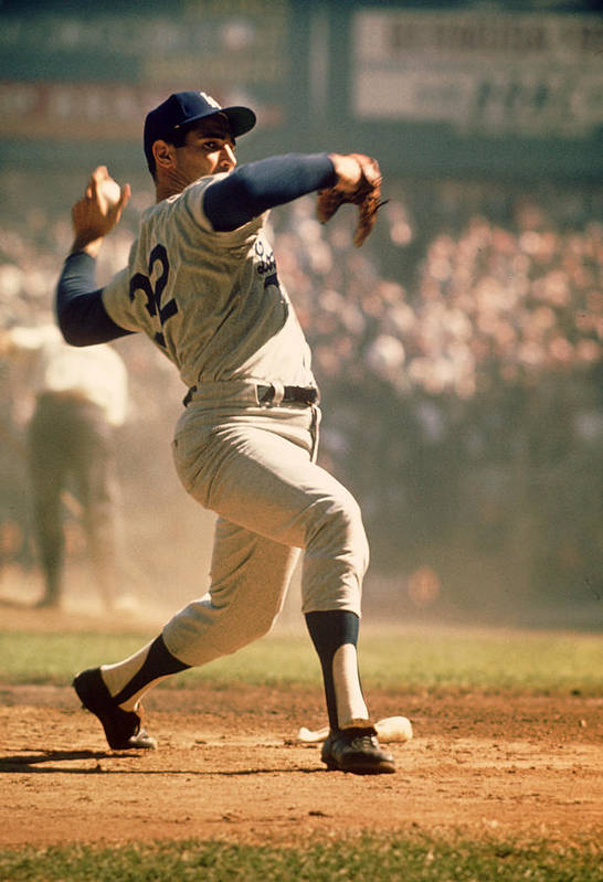 Marvin Newman Art Print featuring the photograph Sandy Koufax by Retro Images Archive