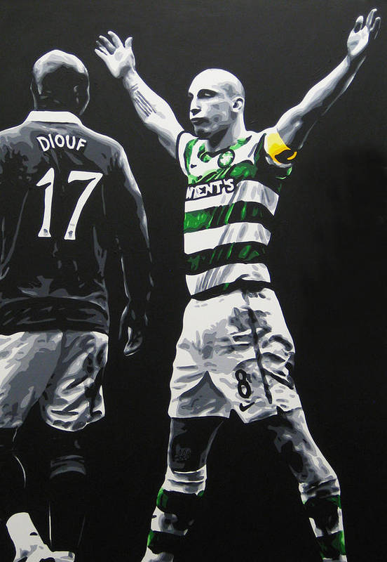 Scott Brown Art Print featuring the painting Scott Brown - Celtic Fc by Geo Thomson