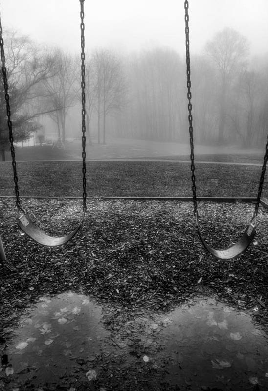 Swings Art Print featuring the photograph Swing Seats I by Steven Ainsworth