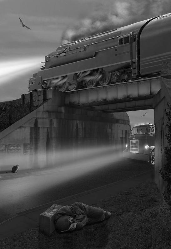 Transportation Art Print featuring the photograph The Overpass by Mike McGlothlen