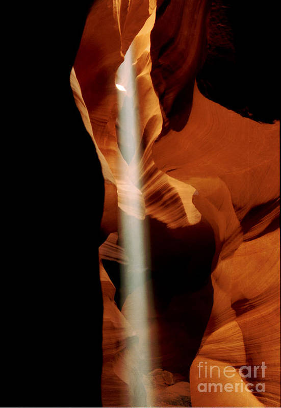 Antelope Canyon Art Print featuring the photograph The Source by Kathy McClure