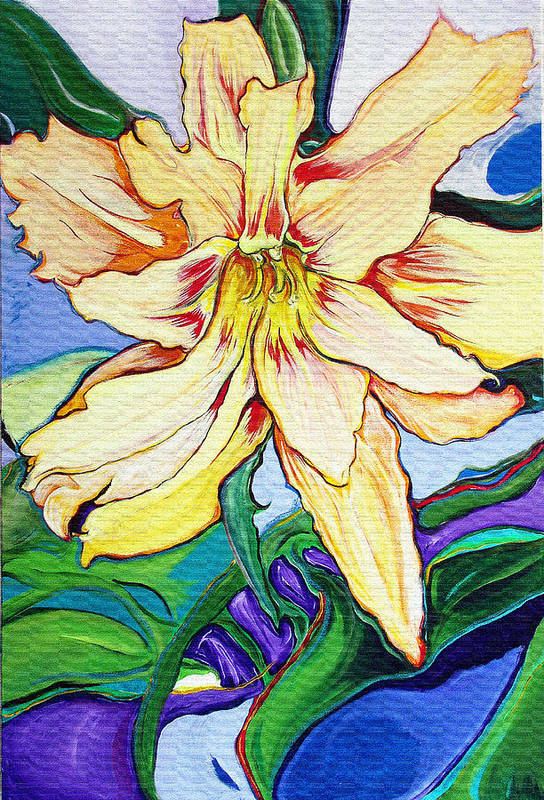 Tigerlily Art Print featuring the painting Tigerlily by Jamie Downs