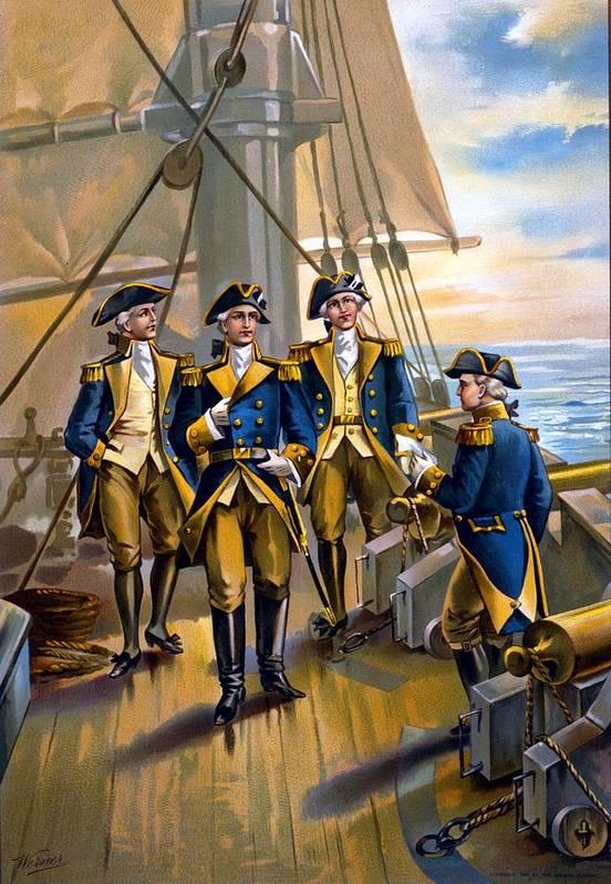 U.s. Navy - Commander In Chief Of Fleet - 1776 Art Print featuring the digital art U S Navy Commander In Chief Of The Fleet by The Werner Company