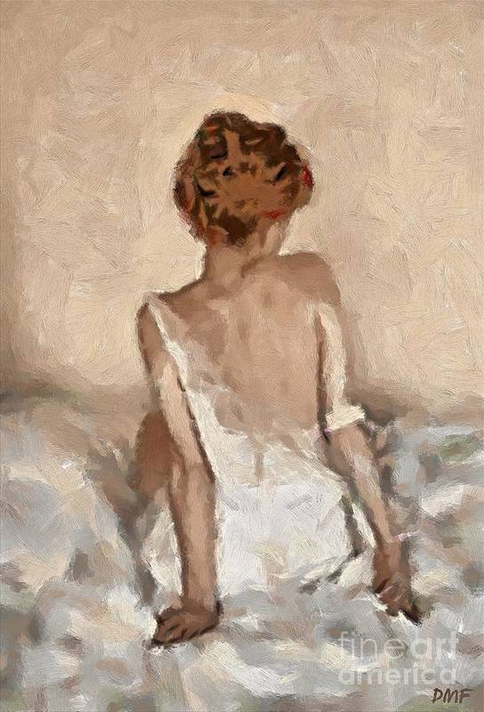 Figurative Art Print featuring the painting Virginity by Dragica Micki Fortuna