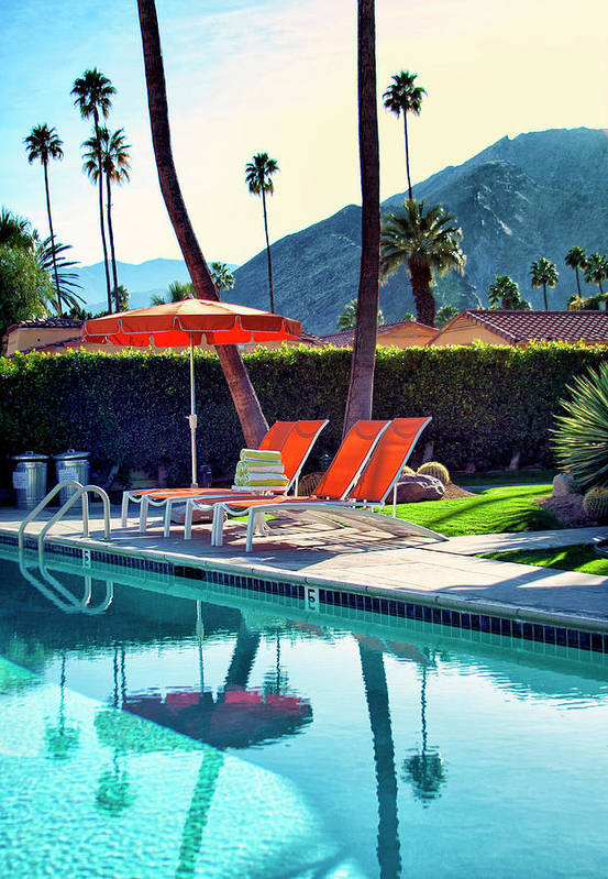 Pool Print featuring the photograph Water Waiting Palm Springs by William Dey
