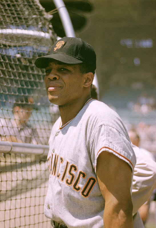 Marvin Newman Art Print featuring the photograph Willie Mays by Retro Images Archive