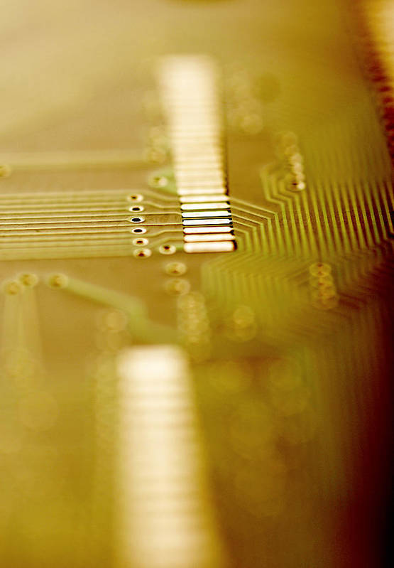 Component Print featuring the photograph Computer Circuit Board by Tim Vernonlth Nhs Trust