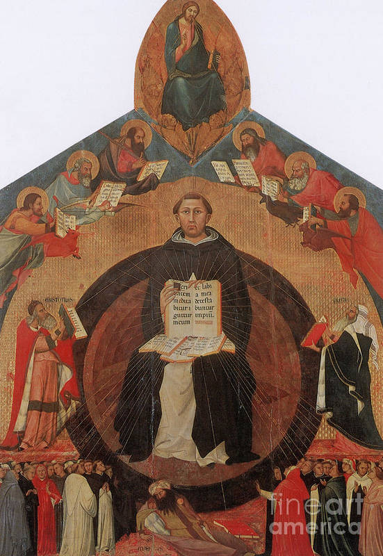 History Art Print featuring the photograph Thomas Aquinas, Italian Philosopher by Photo Researchers