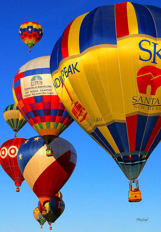 Hot Art Print featuring the photograph Albuquerque Balloon Festival by Fred J Lord