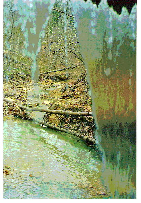 Waterfall Art Print featuring the photograph Behind The Waterfall by Padre Art