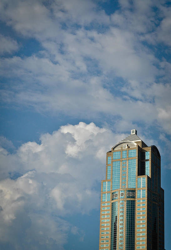 1201 Third Avenue Tower Art Print featuring the photograph Building With Its Head In The Clouds by Ronda Broatch